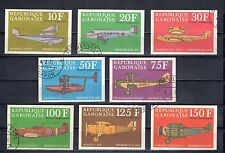 GABON série de 8 timbres poste aérienne AVIONS AVIATION dornier breguet etc