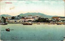 PC PENANG, MALAYSIA, PORT SCENE, Vintage Postcard (b19131)