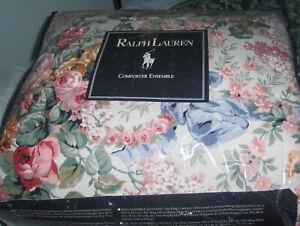 "New Ralph Lauren Home Collection ""Allison"" Twin Comforter Set Shams & Skirt NICE"