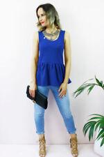 Hauts, chemises bleus pour femme