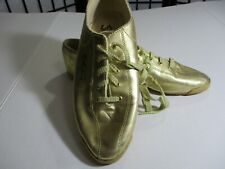 Vintage Streetwear Gold Metallic La Gear Sneakers Size 10 Gc Rockabilly Punk