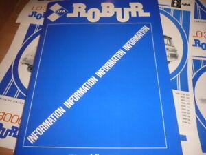 Pressemappe  IFA / ROBUR  mit 10 verschiedene prospekte