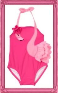 "NWT Infant Girls 3-6 mos Gymboree ""TINY TROPICS"" Pink Flamingo Lined SWIMSUIT"
