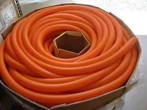 "100 FT.  Panduit 1 1/2"" Solid Wall Orange Corrugated Tubing CLTS150F-D3"