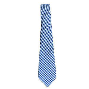 NWT Brooks Brothers Fleece Neck Tie - Boys Youth Large $44.50 Blue Gingham