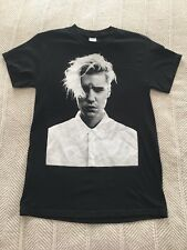 Justin Bieber Purpose Tour Gildan T Shirt Black and White Size S Justin's Face