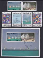 Anguilla 1992 Used FU Full Set Minisheet Boats Yacht Racing Blue Bird Poster