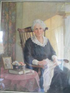 Vintage PICTURE Frame MOTHER Poem OLD 1920's Grandma Attic Find Antique PRINT