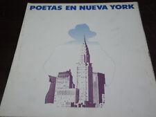 VV  LP Poetas En Nueva York (Folder Promo Set) RARE 1986 HOMENAJE A GARCIA LORCA
