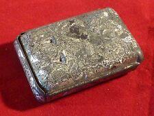 Gorgeous Rare Antique Victorian Silver Jahncke's Patent Dressmaking Pin Box 1880