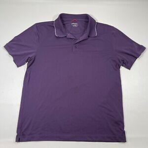 Untuckit Polo Shirt Mens Size Large Purple Short Sleeve Weave