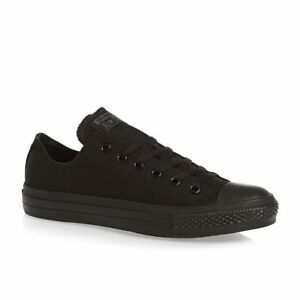 Converse All Star ox Canvas Womens Trainers Shoes Black Mono Size 5 UK /37.5 EU