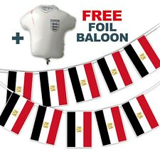 Football World Cup 2018 Set - Egypt Flags - bunting + free foil balloon