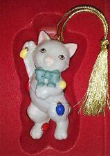 Lenox furry friends Kitty Cat Ceramic Ornament