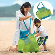 Large Mesh Beach Bag Pack Pouch Box Carrying Toys Children Storage Organizer