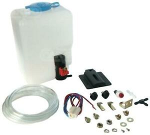 UNIVERSAL 12V WINDSCREEN WASHER BOTTLE KIT MOTOR PUMP JETS 160186 CLASSIC CAR