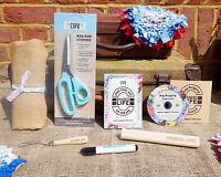 Deluxe Rag Rug Kit w/Sharp Rag Rug Scissors & Instructional DVD - 100 x 60cm Rug