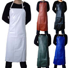 More details for adult waterproof oil proof pvc apron kitchen cook garden butcher bbq full apron