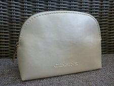 CLARINS Cream White Makeup Cosmetics Bag, Brand NEW!