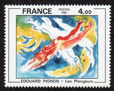 TIMBRE FRANCE 1981EDOUARD PIGNON LES PLONGEURS SÉRIE ARTISTQUE  NEUF