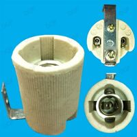 2x Small Edison Screw E14 SES Ceramic Socket Light Bulb Bracket Lamp Holders