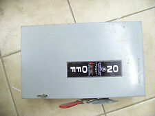 General Electric  60 Amp Safety Switch TG3222 240 Volt Indoor Enclosure