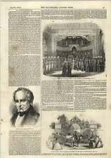 1843 Mr Justice Haliburton Chiswick Horticultural Fete Engraving