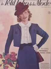Le Petit Echo de la Mode N° 20  du 19/05/1940 Art Déco Journal Naissance
