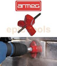 ARMEG EBS Tri-Cut Round Cutter SDS+ Drill, Electrical Socket Box In Brick/Block