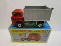 1969 MATCHBOX SUPERFAST NO.26 GMC TIPPER TRUCK  ***NEW IN BOX***