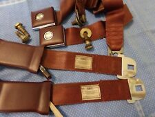 1967 FORD TRUCK MAROON DELUXE METAL BUCKLE SEAT BELTS 1 YEAR ONLY STYLE