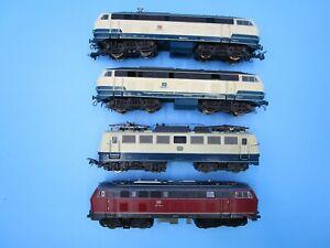 Vintage LOT HO Trains 4 Roco Locomotives Germany Marklin 1/87