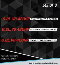 *NEW* 6.2L PERFORMANCE HOOD  DECAL STICKER EMBLEM CHEVY CAMARO SS RS LS3 SA0530