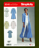 Petite Shirt Dress, Duster, Kimono Sewing Pattern (Sizes 6-14) Simplicity 8546