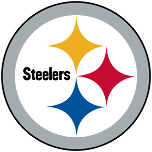 Pittsburgh Steelers Logo Die Cut Decal NEW 5 X 5 Inches Window or Car! Laptop