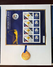 COFFRET COLLECTOR RYDER CUP GOLF TIMBRE FRANCE LUXE EDITION LIMITEE + MEDAILLE
