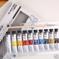 Pebeo Studio Acrylic Paint Art Set 10 x 20ml Tubes Assorted Colours & Brush
