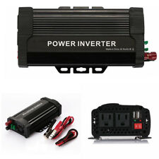 1000W Modified Sine Wave Power Inverter DC 12V to 110V AC Auto Car Smart Adapter