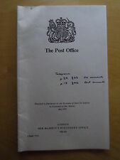 Post Office Report Great Britain UK London Her Majesty's Stationery Office 1978