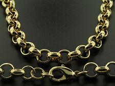 Luxury Belcher Chain Necklace - 18K Gold Filled - Men's - 10mm, 24 inch Bling