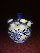 """6.5"""" Hand painted Delft 7 hole insence holder"""