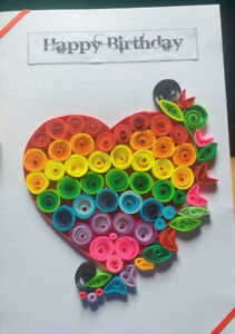 Birthday Card 100% Handmade Quiling Greeting Cards colorful giftcard for anyone