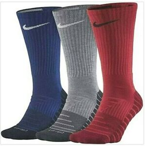 NIKE 3 Pack EVERYDAY MAX Cushioned Crew Socks SX5547 905 Men's Size 8-12
