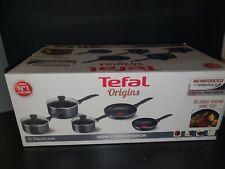 Tefal Non Stick Origins 5 Piece Set 2x Frying Pans 3x Pots & Lids Nonstick