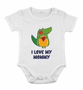 I love My Mommy safari frog Funny Cute Babygrow Newborn Romper Cotton cothing