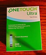 Brand New!~100 Ct One Touch Ultra Test Strips~Exp 07/31/2022