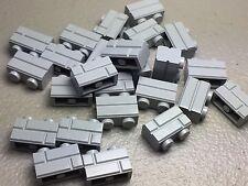 LEGO Lot of 25 Masonry Profile Bricks 1x2 Light Bluish Gray NEW- Authentic LEGO