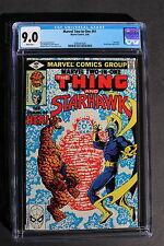 MARVEL TWO-IN-ONE #61 1st KISMET HER 1980 Guardians Galaxy Movie-2 Perez CGC 9.0
