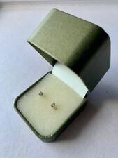 Genuine Round Cut Diamond Stud Earrings with Silver Butterflies