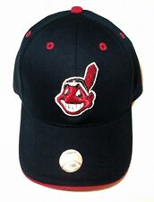 CLEVELAND INDIANS Chief Wahoo Adjustable MLB Baseball Hat YOUTH LG KIDS SIZE NWT